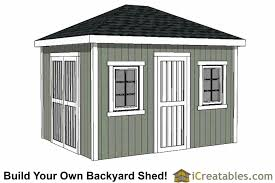 10x12 hip roof shed plans sku shed10x12 h