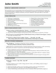 Lab Technician Resume Objective Surgical Tech Resume Objective
