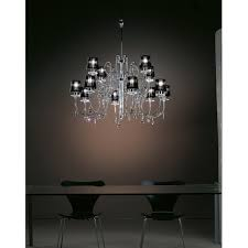 chandelier with swarovski elements and fabric lampshades 741 8 4
