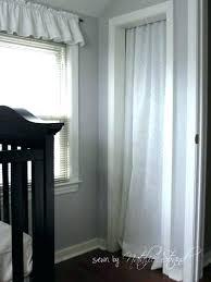 closet covering ideas closet curtain alternative closet door nursery projects crib skirt and closet curtain alternative