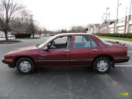 1989 Medium Garnet Red Metallic Chevrolet Corsica Sedan #41238140 ...