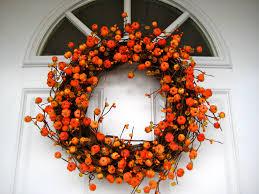 Exterior Cool Autumn Wreath Ideas With Autumn Wreaths Front Door ...