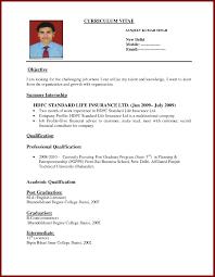 Sample Resume Bio Data Resume Free Samples Examples Resumes