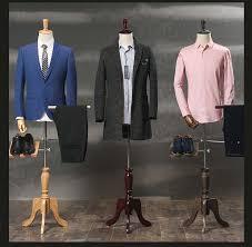 Suit Display Stands Male props half length mannequin formal dress suit display 12