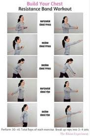resistance band workout that is perfect to build up muscle and definition in the chest
