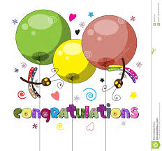 word of congratulations the original spelling of the word congratulations stock vector