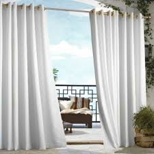 com outdoor decor gazebo grommet outdoor curtain panel white 50 wide by 108 long home kitchen