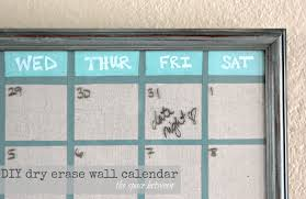 great diy wall calendar upcycled picture frame turned idea 2017 design chalkboard acrylic family digital