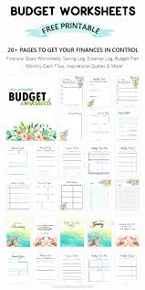 Printable Budget Worksheet 20 Free Tools To Be Financially