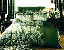 dark green duvet cover forest quilt 8 elegant script linen