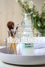 homemade natural makeup brush cleaner