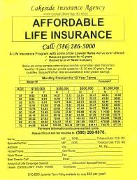 insurance quotes michigan lakeside insurance agency cur michigan life insurance rates