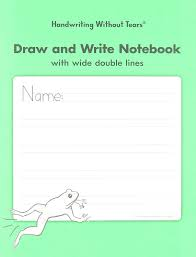 Double Lined Paper Handwriting Without Tears DAW Double Line Wide Draw And Write 16