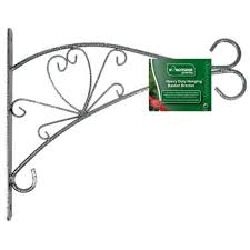12 heavy duty decorative metal wall bracket for hanging flower baskets hbb12db