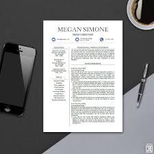 Modern Resume Template For Ms Word Professional Cv Design