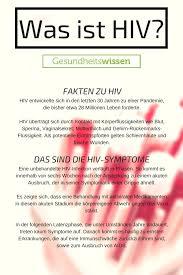 infektion hiv symptome