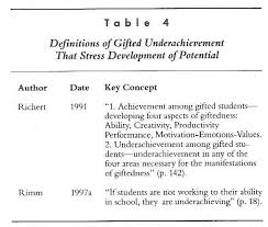 the underachievement of gifted students what do we know and where   4