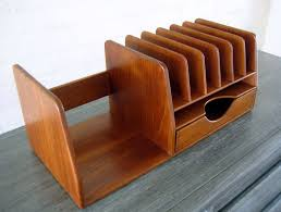 desk accessories set wood