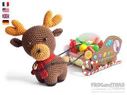 rudolph reindeer and diy santa sleigh amigurumi photos and pictures