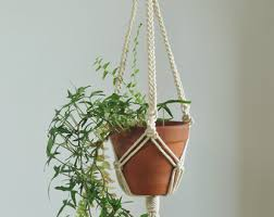 macrame plant hanger, indoor garden, plant pot holder, hanging planter,  macrame pot