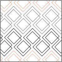 Fusion Pantograph © 2016 Patricia E. Ritter …   Pinteres… & Diagonal Plaid quilting pantograph pattern by Patricia Ritter of Urban  Elementz Adamdwight.com