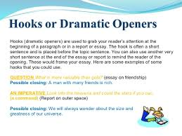 good hooks for essays examples of good hooks for persuasive view larger essay writing