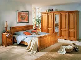 Schlafzimmer Einrichtung Bett Schrank Nachtkonsole Fichte Massiv