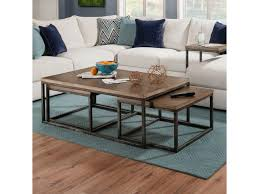 Contemporary industrial furniture Rustic Simmons Upholstery 7326 Contemporary Industrial Nesting Coffee Table With Distressed Finish Simmons Upholstery 7326 Contemporary Industrial Nesting Coffee Table