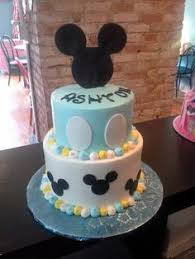 Baby Mickey Baby Shower Cake  Cake By Danielle Lechuga U2026  Pinteresu2026Baby Mickey Baby Shower Cakes