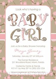baby girl invite cherry blossom baby girl shower invitation printable uprint