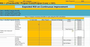 Excel Roi Template Download Roi Excel Template Excelperks In 2019 Templates