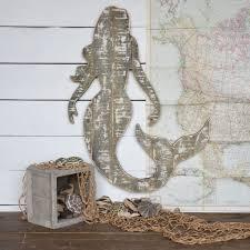 homart wood slat sealife mermaid wall art areohome