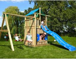 c h wooden climbing frame lodge playhouse 2 swing childrens outdoor sets baby