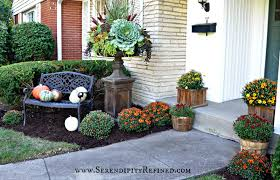 Outdoor Decorating For Fall Fall Front Porch And Fabulous Urn Planter Fox Hollow Cottage
