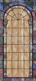 faux stained glass window uv design for churches in 12 in 12 plain