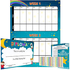 Potty Training Reward Chart Multicolored Star Stickers Mark