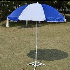 beach umbrella. White And Blue Sun Beach Umbrellas, Size: Customized Umbrella