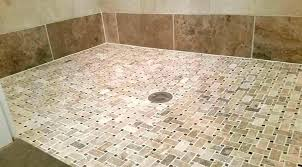tile redi shower pan barrier free installation single threshold with center drain problems