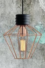 copper pendant light cattleman black
