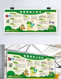 Display Board Design Online Community Earthquake Prevention Small Knowledge Exhibition