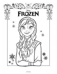 Disegni Da Colorare Di Frozen Da Stampare Gratisanna Disegno
