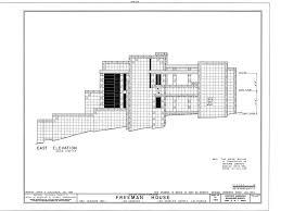 ennis house floor plan images details frank lloyd wright freeman house blueprints home plans on remarkable