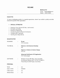 Resume Format For A Fresher Beautiful Resume Format For Teaching