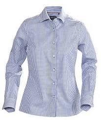 <b>Рубашка женская в клетку</b> TRIBECA LADIES, синяя, размер S ...