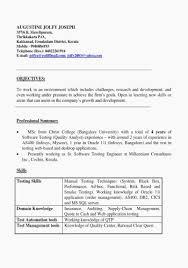 Product Test Engineer Sample Resume New Junior Manual Tester Resume