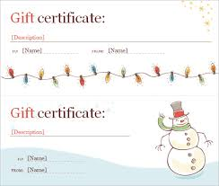 free printable christmas gift certificate templates free word christmas gift certificate template gift certificate