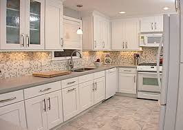 Small Picture White Kitchen Cabinets With Glass Doors Home Design Ideas and