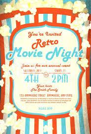 Movie Night Invitation Template Free Movie Party Invitation Template Premium Stock Photo Of Retro Movie