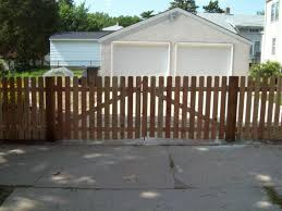 Wooden Fence Driveway Gates