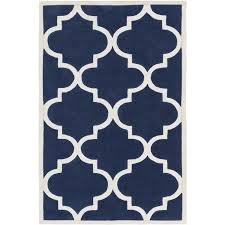 surya mamba 2 x 3 hand tufted rug in blue